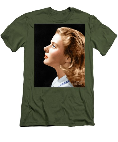 Men's T-Shirt (Athletic Fit) featuring the photograph Ingrid Bergman by Granger