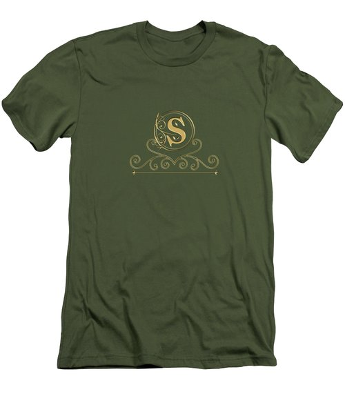 Initial S Men's T-Shirt (Athletic Fit)
