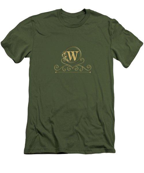 Initial W Men's T-Shirt (Athletic Fit)