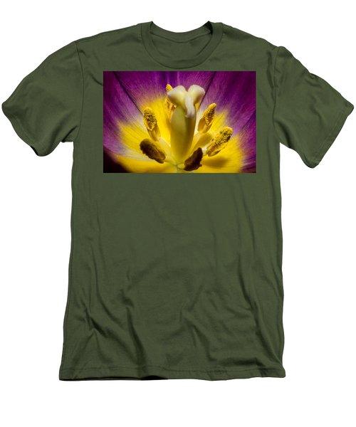 Inside A Purple Tulip Men's T-Shirt (Athletic Fit)