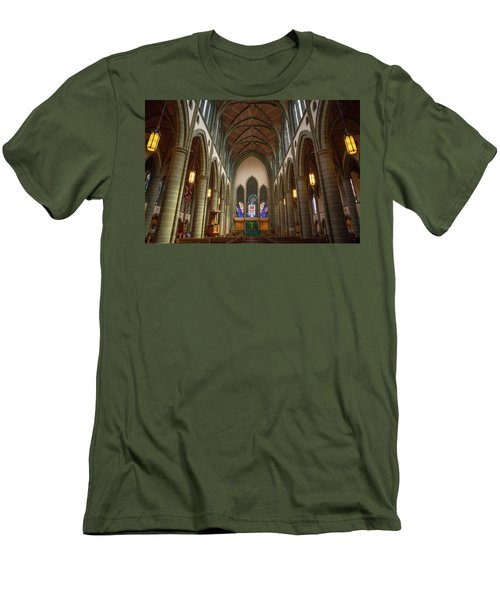 Inside Christchurch Cathedral Men's T-Shirt (Slim Fit) by Keith Boone