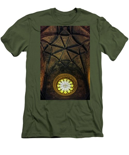 Men's T-Shirt (Slim Fit) featuring the photograph Inside Jeronimos by Carlos Caetano
