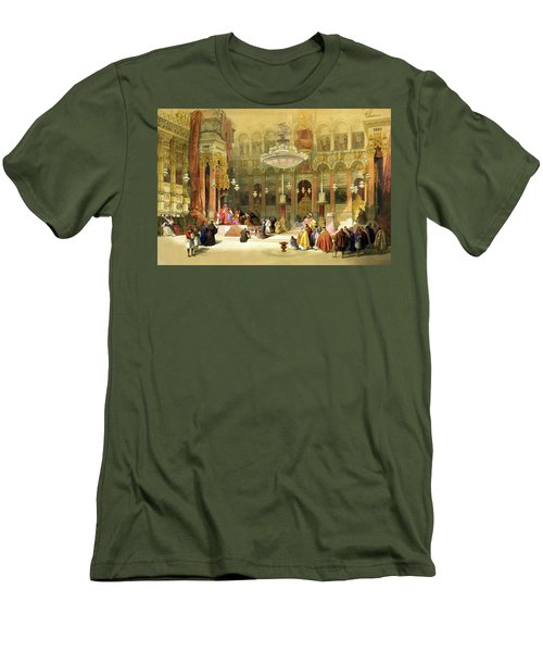 Inside The Church Of The Holy Sepulchre Men's T-Shirt (Athletic Fit)