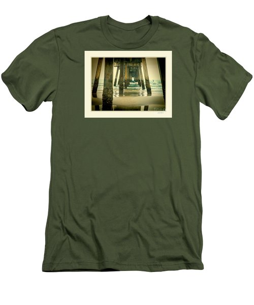 Inside The Pier Men's T-Shirt (Slim Fit) by Linda Olsen