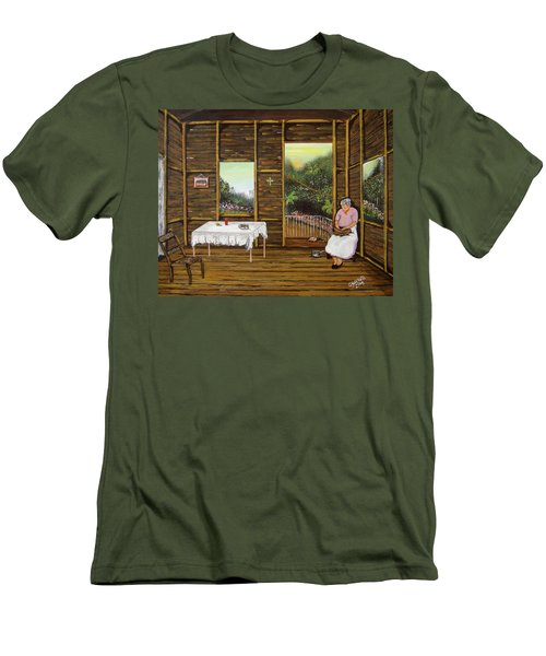 Inside Wooden Home Men's T-Shirt (Athletic Fit)