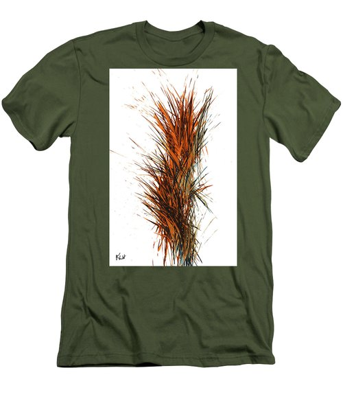 Men's T-Shirt (Athletic Fit) featuring the painting Intensive Abstract Painting 1030.050512 by Kris Haas