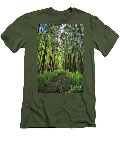 Men's T-Shirt (Slim Fit) featuring the photograph Into The Forest by DJ Florek