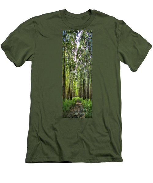 Men's T-Shirt (Slim Fit) featuring the photograph Into The Forest I Go by DJ Florek