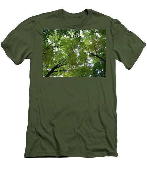 Men's T-Shirt (Slim Fit) featuring the photograph Into The Trees by Michael  TMAD Finney