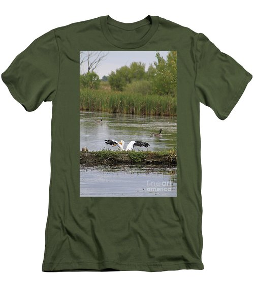 Men's T-Shirt (Slim Fit) featuring the photograph Into The Water by Alyce Taylor