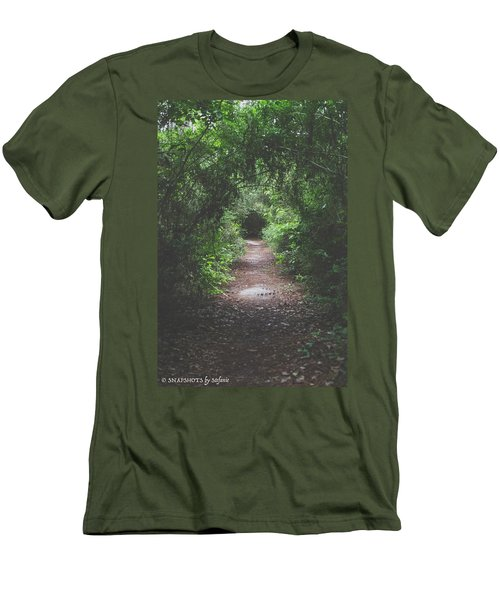 Into The Wormhole Men's T-Shirt (Slim Fit) by Stefanie Silva