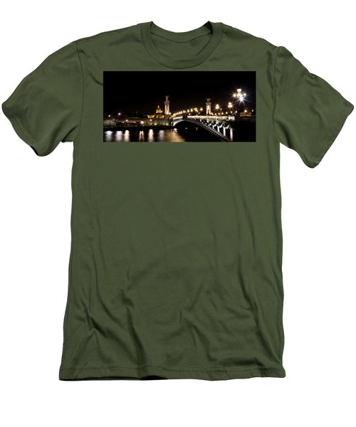 Men's T-Shirt (Slim Fit) featuring the photograph Invalides At Night 1 by Andrew Fare