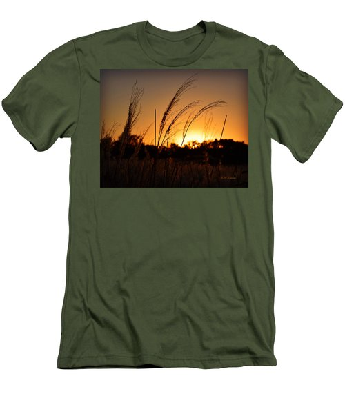 Iowa Prairie Sunset Men's T-Shirt (Athletic Fit)