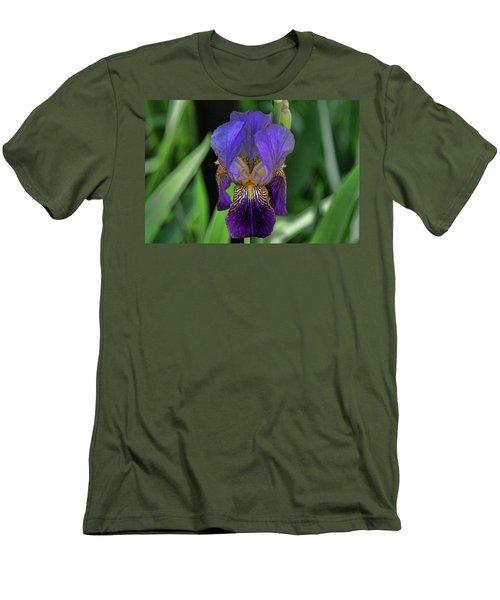 Iris Purple 2 Men's T-Shirt (Athletic Fit)