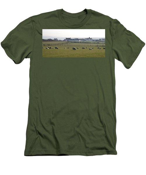 Irish Sheep Farm Men's T-Shirt (Slim Fit) by Henri Irizarri