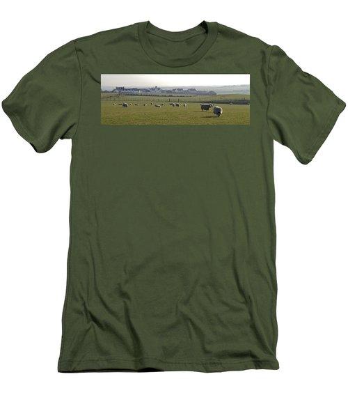 Irish Sheep Farm I Men's T-Shirt (Slim Fit) by Henri Irizarri