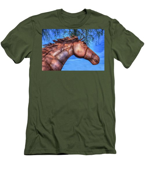 Men's T-Shirt (Slim Fit) featuring the photograph Iron Horse by Paul Wear