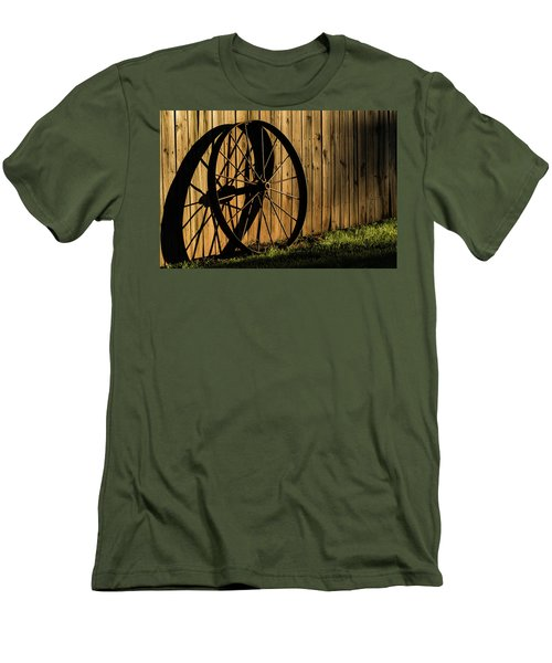 Iron Wheel Men's T-Shirt (Slim Fit) by Jay Stockhaus