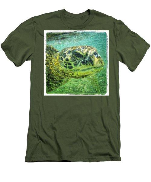 Isabelle The Turtle Men's T-Shirt (Slim Fit) by Erika Swartzkopf