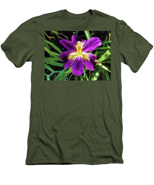 Island Iris 2 Men's T-Shirt (Slim Fit) by Penny Lisowski