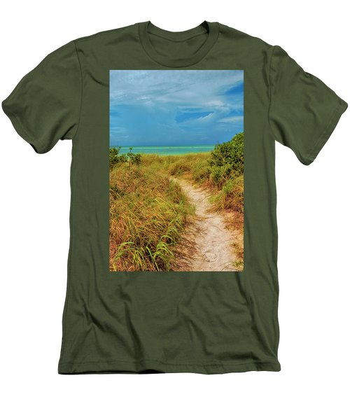 Island Path Men's T-Shirt (Slim Fit) by Swank Photography