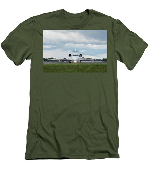 Men's T-Shirt (Athletic Fit) featuring the photograph Israel Aircraft Industries Galaxy 1 by Guy Whiteley