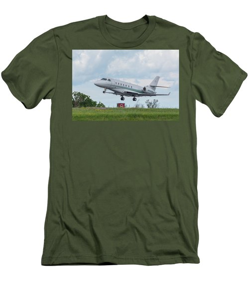 Men's T-Shirt (Athletic Fit) featuring the photograph Israel Aircraft Industries Galaxy 3 by Guy Whiteley