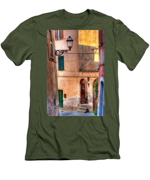 Italian Alley Men's T-Shirt (Slim Fit) by Silvia Ganora