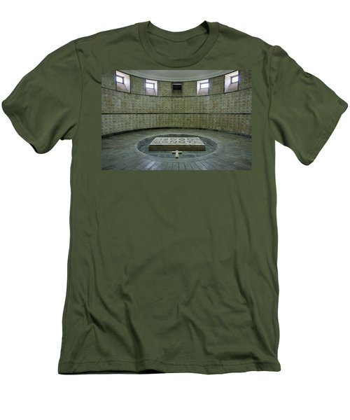 Men's T-Shirt (Athletic Fit) featuring the photograph Italian World War One Shrine #2 by Stuart Litoff