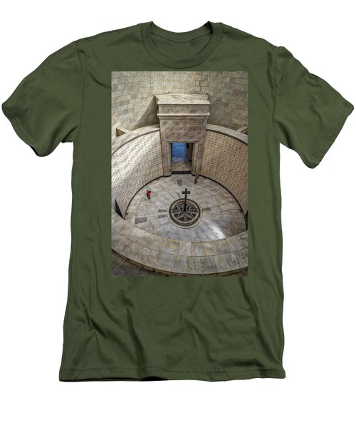 Men's T-Shirt (Athletic Fit) featuring the photograph Italian World War One Shrine #3 by Stuart Litoff