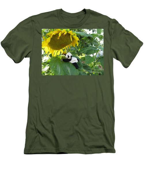 Men's T-Shirt (Slim Fit) featuring the photograph It's A Big Sunflower by Ausra Huntington nee Paulauskaite