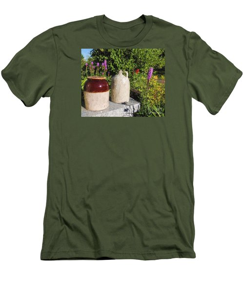 Men's T-Shirt (Slim Fit) featuring the photograph It's A Crock by Mim White