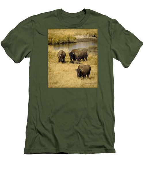 Men's T-Shirt (Slim Fit) featuring the photograph It's A Family Affair by Sandy Molinaro