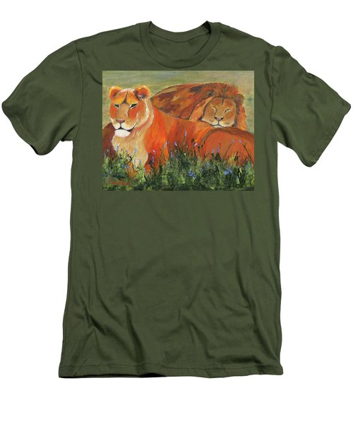 Men's T-Shirt (Athletic Fit) featuring the painting It's Good To Be King by Jamie Frier