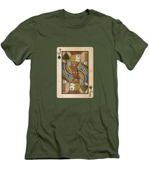 Jack Of Spades In Wood Men's T-Shirt (Athletic Fit)