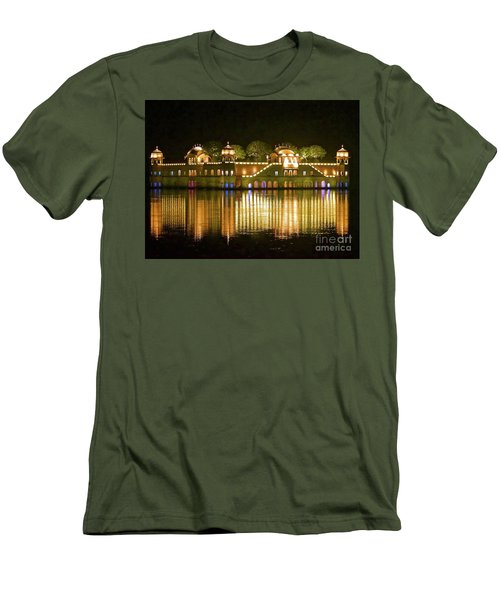Jal Palace At Night Men's T-Shirt (Slim Fit) by Michael Cinnamond