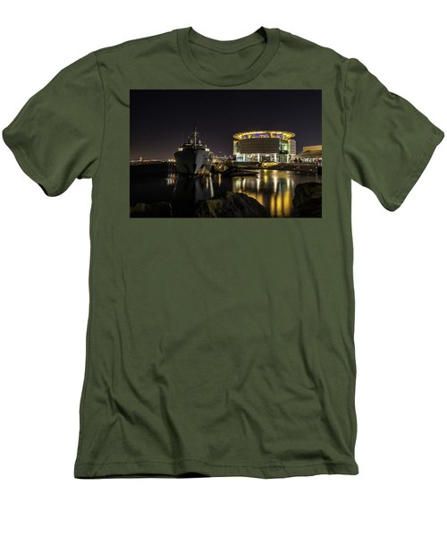 Men's T-Shirt (Athletic Fit) featuring the photograph Jamaica Bay At Discovery World by Randy Scherkenbach