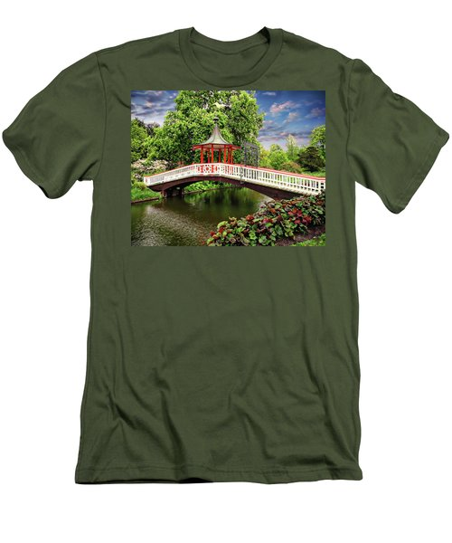 Japanese Bridge Garden Men's T-Shirt (Athletic Fit)