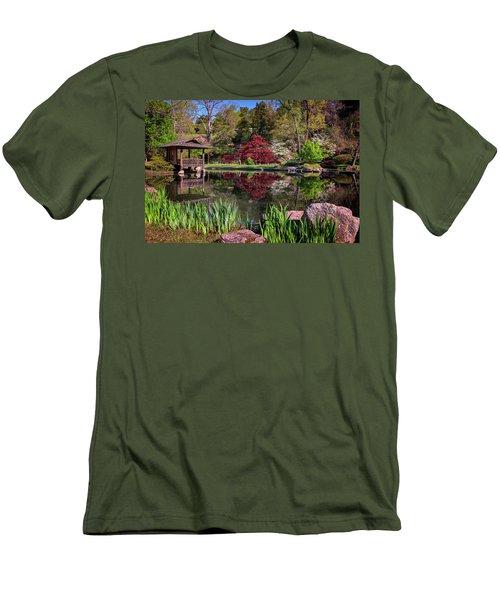 Men's T-Shirt (Slim Fit) featuring the photograph Japanese Garden At Maymont by Rick Berk
