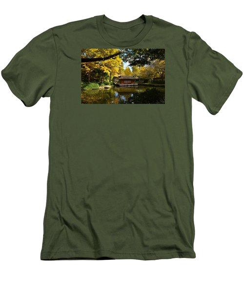 Men's T-Shirt (Slim Fit) featuring the photograph Japanese Gardens 2541a by Ricardo J Ruiz de Porras