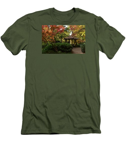 Men's T-Shirt (Slim Fit) featuring the photograph Japanese Gardens 2577 by Ricardo J Ruiz de Porras