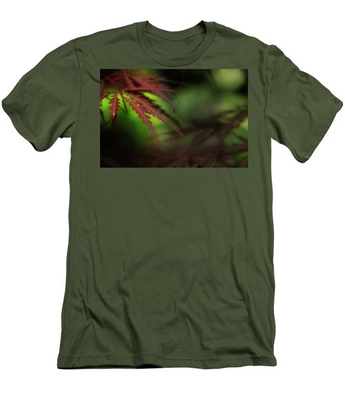 Men's T-Shirt (Slim Fit) featuring the photograph Japanese Maple by Mike Eingle