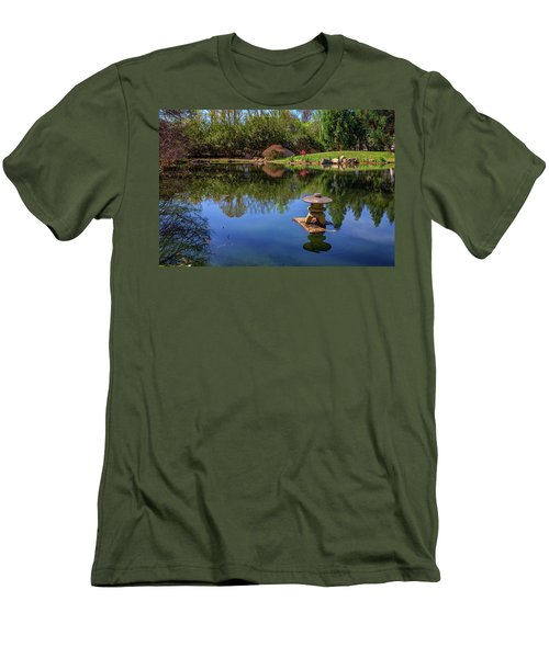 Men's T-Shirt (Slim Fit) featuring the photograph Japanese Reflections At Maymont by Rick Berk