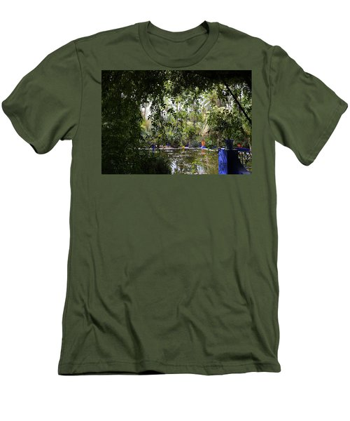Men's T-Shirt (Slim Fit) featuring the photograph Jardin Majorelle 2 by Andrew Fare