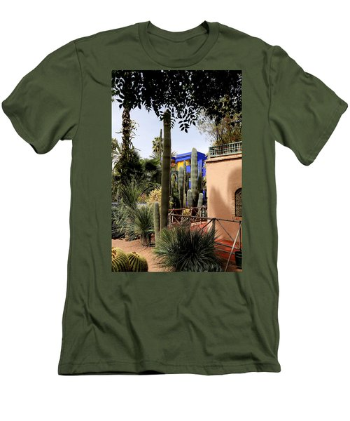 Men's T-Shirt (Slim Fit) featuring the photograph Jardin Majorelle 4 by Andrew Fare