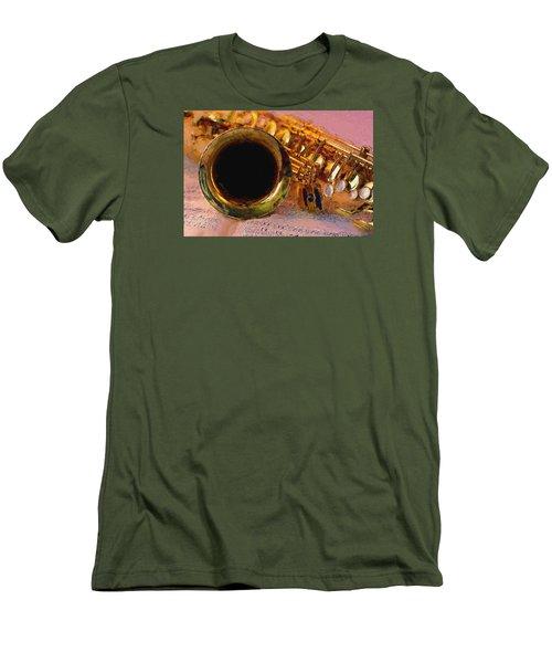 Jazz Saxophone Men's T-Shirt (Slim Fit) by Louis Ferreira