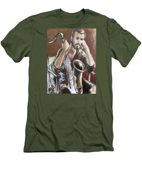 Jazz Men's T-Shirt (Slim Fit) by Vali Irina Ciobanu