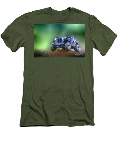 Men's T-Shirt (Slim Fit) featuring the photograph Jeep by Charuhas Images