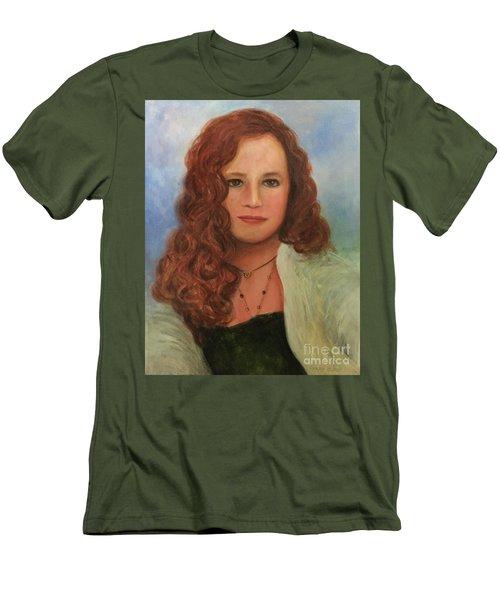 Men's T-Shirt (Slim Fit) featuring the painting Jennifer by Randol Burns