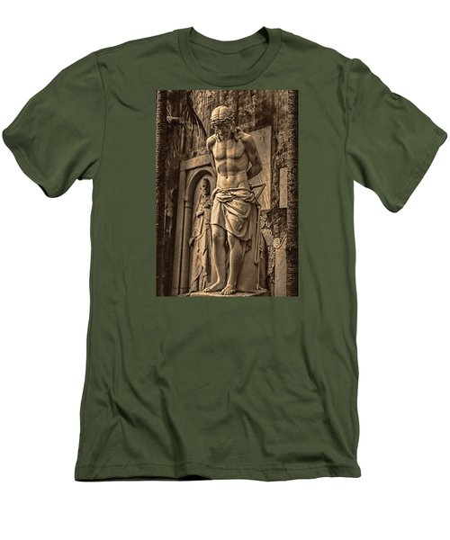 Men's T-Shirt (Slim Fit) featuring the photograph Jesus In Rome by Trey Foerster